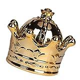 Desconocido Generic Caja de Joyería de Cerámica en Forma de Corona Caja de Joyería Soporte de Anillo de Joyería de Boda Organizador de Almacenamiento para Soporte de Noche (S Dorado)
