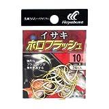 ハヤブサ(Hayabusa) シングルフック 小袋バラ鈎 イサキ 金 ホロフラッシュ 10号 24本 金 BS301