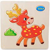 Skyeye Juegos educativos Imagen Rompecabezas Juguetes para niños Regalos Animales de Dibujos Animados Puzzle de Madera Bebé Juguetes educativos