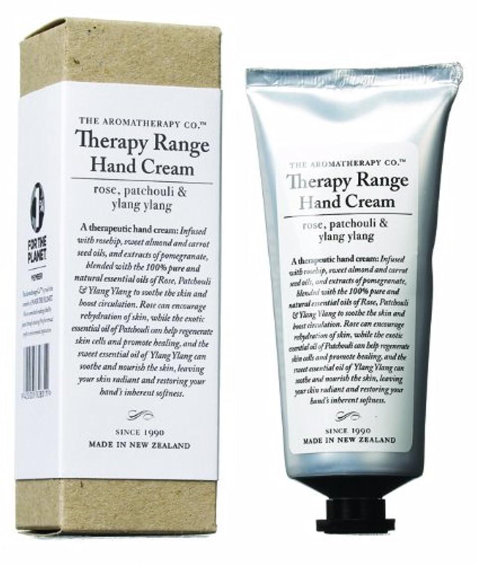究極の底ガイドラインアロマセラピーカンパニー Therapy Range セラピーレンジ ナリシングハンドクリーム ローズ 、パチュリ&イランイラン