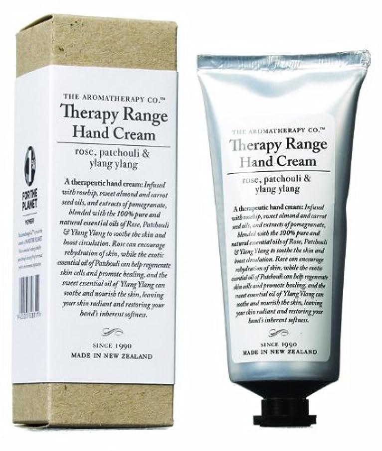 言い訳変装したより良いアロマセラピーカンパニー Therapy Range セラピーレンジ ナリシングハンドクリーム ローズ 、パチュリ&イランイラン