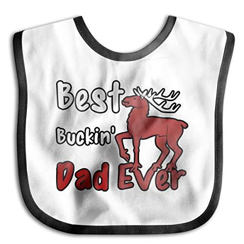 PANK11 Baby Best Buckin Dad Ever Feeder Bibs Girls Boys Novelty Drooler Bibs Burp Cloth Stain Resistant