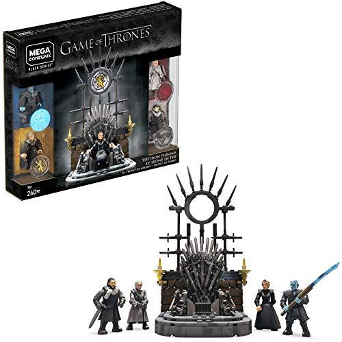 Mega Construx Game of Thrones Il Trono di Spade, Set Gioco Costruzioni con Minipersonaggi, 256 pezzi, da Collezione, per 16+Anni, GKM68