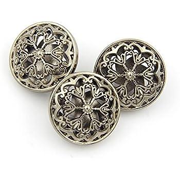 Women/'s suit Metal DIY Coat button 10PCS Craft Button 28mm Replacement Buttons