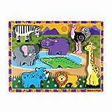 Melissa&Doug Safaripuzzle mit extra großen Teilen | Puzzles | Holzspielzeug | 3+ | Geschenk für Jungen oder Mädchen