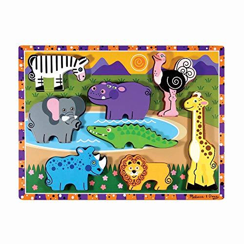 Melissa & Doug - 3722 - Puzzle - Encastrement 3D - Safari