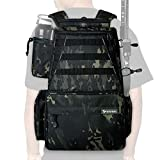 Rodeel Fishing Tackle Backpack, 2 Fishing Rod Holders, Large Storage,Backpack for Trout Fishing Outdoor Sports...