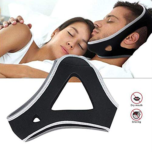 Dilatador Nasal,Anti Snoring Chin Strap,Triangle Chin Snoring Belt Effective Snoring Solution Sleep Aid Most for Men and Women 3 Pcs