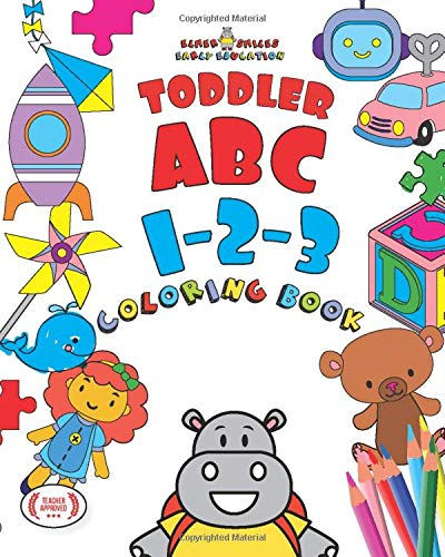 Elmer Smiles: ABC - 123 Toddler Coloring Book