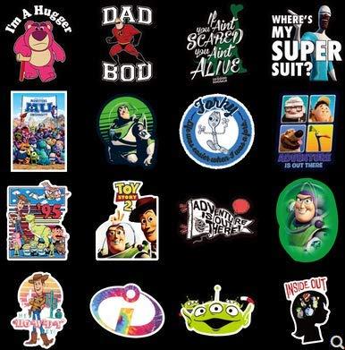 ZHXMD Pegatina para Equipaje Pixar Marca Tide Europa y América Anime periférico Ordenador teléfono Equipaje Pegatina para niños 100 Uds