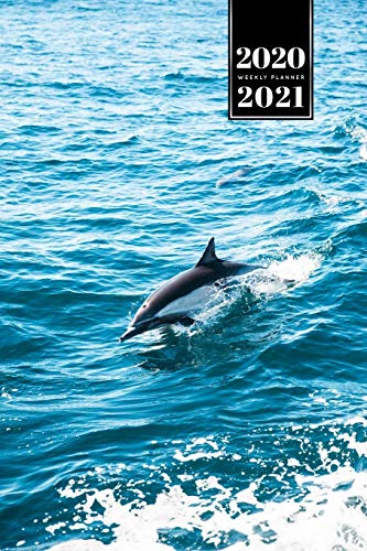 "Dolphin Beluga Whale Porpoise Dolphinfish Week Planner Weekly Organizer Calendar 2020 / 2021 - Dorsal Fin: Cute Wildlife Animal Pet Bullet Journal Notebook Diary in 6"" x 9"" Inch Pocket Size"
