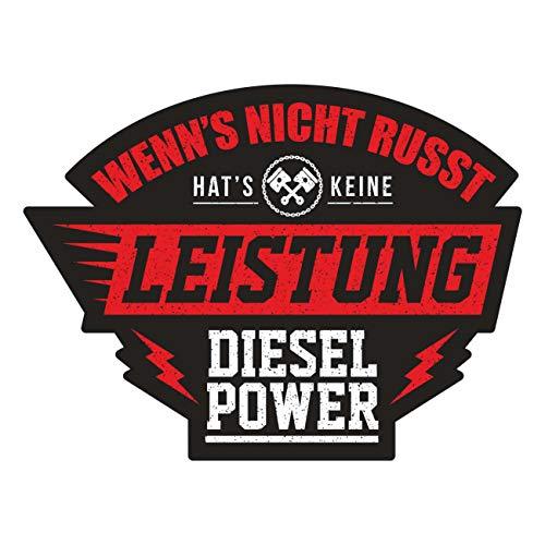 Aufkleber Wenn's Nicht russt hat's Keine Leistung Diesel Power (Wetterfest)
