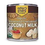 Organic Sweetened Condensed Coconut Milk by Nature's Greatest Foods - 13.5 Oz – Gluten Free, Vegan (12 Pack)