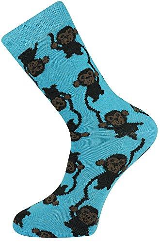 Mysocks Socken Affe Design Blau