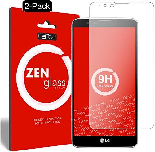 ZenGlass [2 Stück Flexible Glas-Folie kompatibel mit LG Stylus 2 Panzerfolie I Bildschirm-Schutzfolie 9H