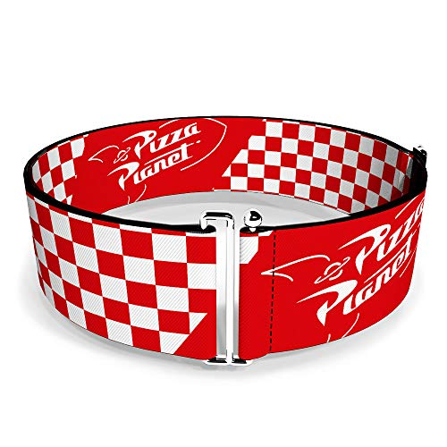 Belt Women's Cinch Toy Story Pizza Planet Logo Checker Red White 23 to 44 Inches