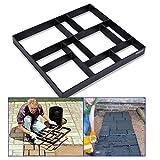 Molde para Cemento Molde de pavimentación,Molde Path Maker manual para troncos de hormigón o cemento, piedra para terraza, camino de jardín, camino 45X40X4cm