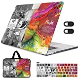 May Chen Laptop Bag for MacBook Pro 13 Case A2338 M1 A2289 A2251 2020 Release,Sleeve, Webcam Cover,Keyboard Cover Hard...