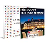 SMARTBOX - Coffret cadeau - Hôtels 5* et tables de prestige - idée cadeau - 1 ou 2 nuits avec petits-déjeuners et 1 dîner à une table prestigieuse pour 2 personnes