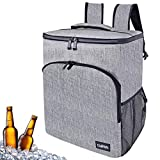 OldPAPA Insulated Picnic Cooler Bag, 30L Portable Lightweight Lunch Cooler Backpack Leakproof Soft