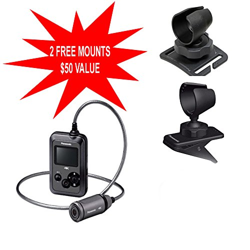 Great Price! Panasonic HX-A500 4K HD 25p POV Wearable Waterproof Video Camera Camcorder with 2 Free ...