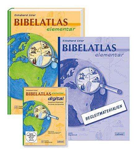 Bibelatlas elementar digital + Bibelatlas elementar + Begleitheft: Kombipaket CD-ROM + Buch + Heft
