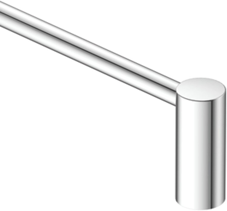 Moen CSI YB0424CH Align 24 in. Modern Single Towel Bar, 23.98 x 2.28 x 3.31 inches, Chrome