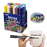 DEZIINE 24 Colors Acrylic Paint Marker Pen Marker Sketch Stationery Painting Crafting graffiti Glass Ceramic Art Painting Drawing