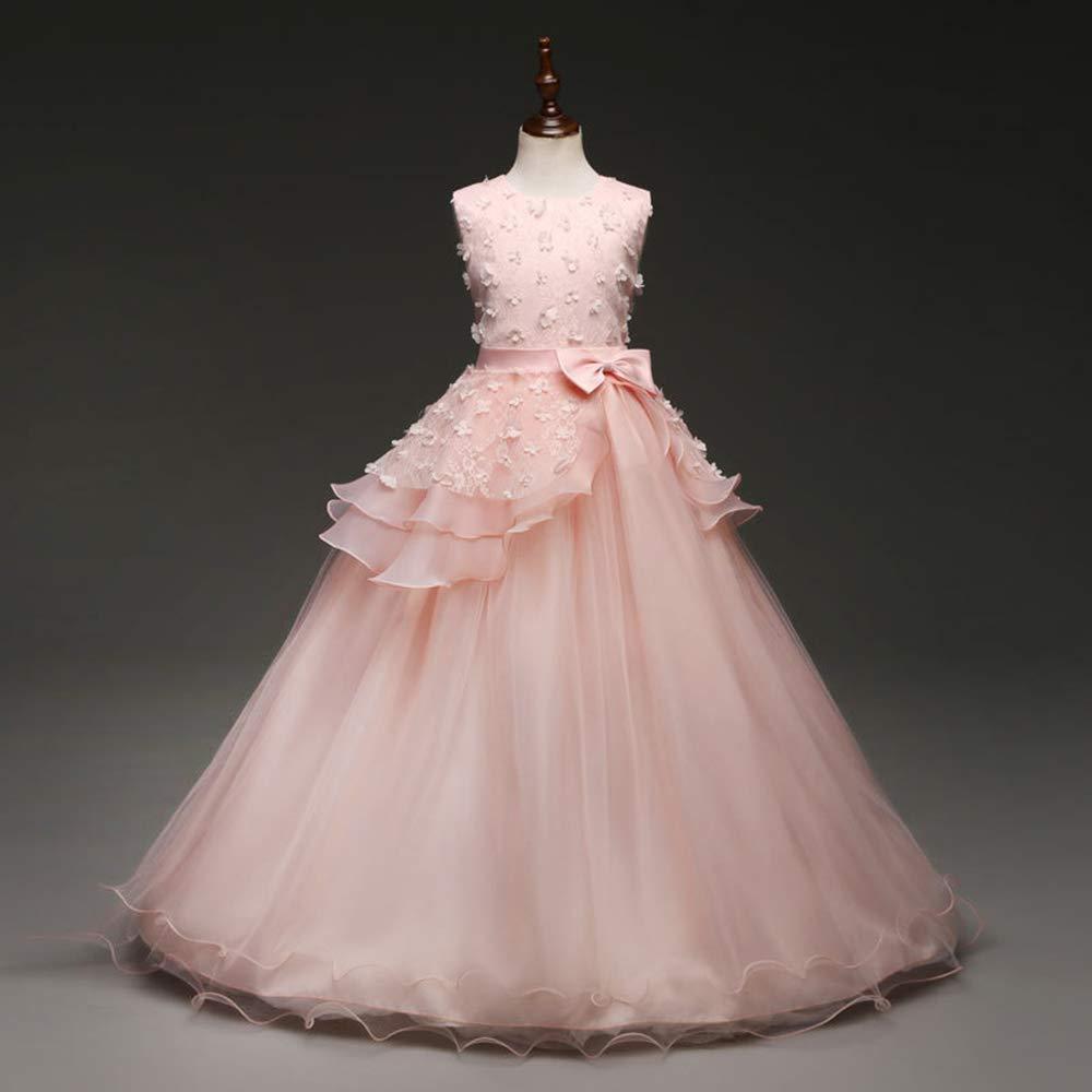 V1 Clothing CO Vestidos de Princesa para niñas Vestidos Batas para niños, Juegos de rol actuaciones de Piano de Escenario, Vestidos de Boda para niños de 3 a 8 años: Amazon.es: Hogar
