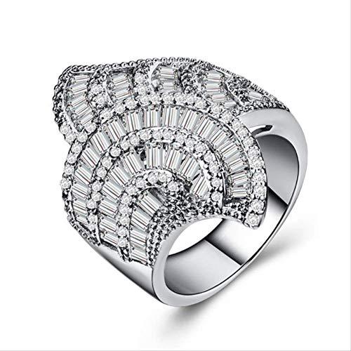 Schillernder AAA Cz Ehering Ladies Dream Sinnvoller Verlobungsring mit mikro-gepflastertem Brautring Trendy Jewelry Gadget