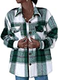 NDCATHE Camisa a cuadros de manga larga para mujer con bolsillo