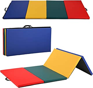 3aa8065cc26e BestMassage Gymnastics Mat Gym Mat Tumbling Mat 4 Pannel Foldding Gymnastic  Tumbling Mat 4'x8