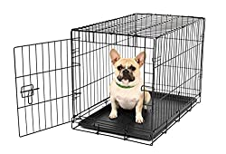 Carlson Pet Products Single Door Metal Dog Crate.