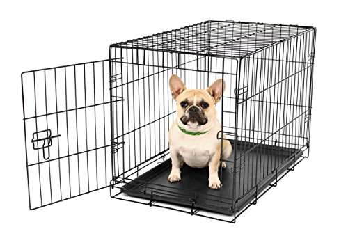 Carlson Pet Products SECURE AND FOLDABLE Single Door Metal Dog Crate Small