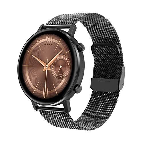 WEINANA Smart Watch Frauen Männer 1,3 Zoll Full Touch Smart Armband Multisport Fitness Tracker Herzfrequenzmesser Smartwatch(Color:B.)