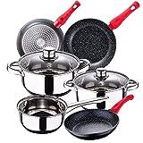 Bateria de cocina 5 piezas SAN IGNACIO Cassel, acero inoxidable,...