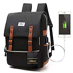 """Dimensions : 11.5""""L x 16""""H x 6.5""""W Weight : 1.8 lb. It can holds the 15.6"""" laptop perfectly . Large capacity :1*main compartment, 2*front pockets, 1*small front pocket for wallet 2*side pockets, 1*laptop & iPad pocket. Plenty of space to hold everyth..."""
