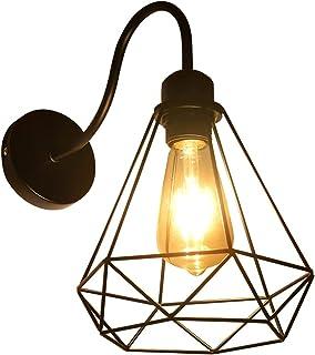 Applique Murale Interieur Vintage, Industrielle Lampe Murale LED, E27 Rétro Luminaire Mural pour Bar, Café, Chevet, Escali...