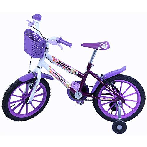 Bicicleta Infantil Aro 16 Milla com Cestinha, cor Violeta