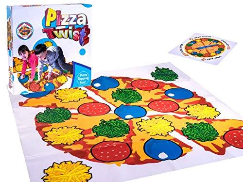 BSD Action und Reflex Spiel - Bodenspiel - Twister Spielmatte - Pizza Twist