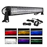 20 Inch LED Light Bar, DJI 4X4 5D 120W Cree RGB LED...