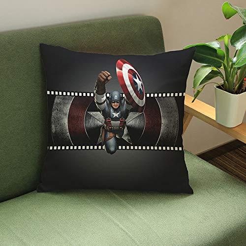 Jingrui Superhéroe Avengers Funda De Cojín Funda De Almohada De Dibujos Animados Hulk Deadpool Iron Man Print Funda De Cojín De Dibujos Animados Almohada De Lino Regalo