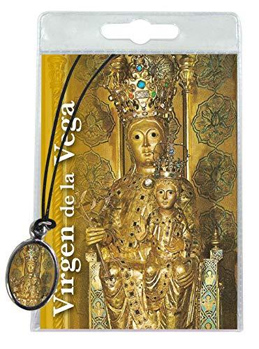 Ferrari & Arrighetti Medalla de la Virgen de la Vega (Salamanca) con cordón y oración en español