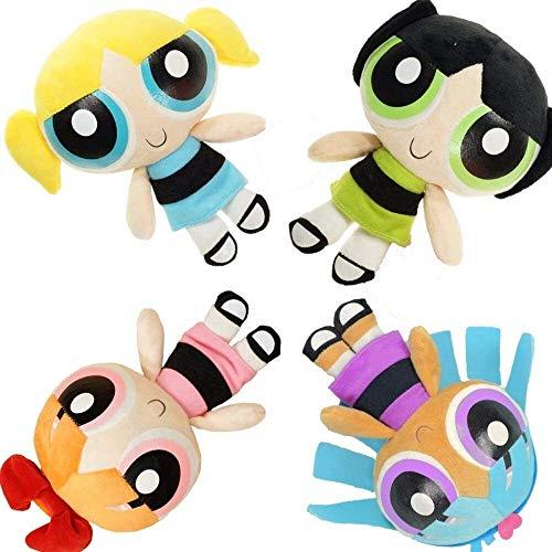 Detazhi 25cm Plush Toys Powerpuff Girls Cartoon Movie Stuffed Plush Toys Gift 4pcs/Set