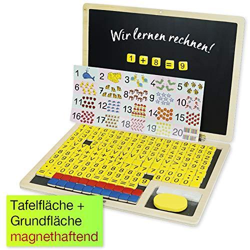 TimeTEX - Rechen-Klapp-Computer, 189-teilig, Holz, magnetisch - zum Lernen der Zahlen und Rechenoperationen, sowie Förderung der Rechen-Kompetenz - 92261