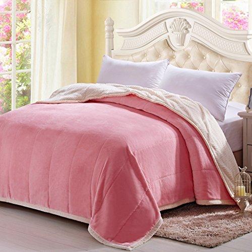 Couvertures Wddwarmhome Solide Couleur Chambre Salon Casual Chaud Feuilles Doux Et Confortable Quatre Saisons Disponible (Couleur : Rose, Taille : 180 * 200cm)