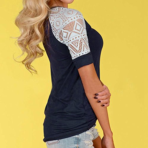 Women's Tee,Neartime Summer Blouse Thin Casual Tops Lace T-Shirt Hot Sale! (M) Photo #6