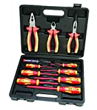 Hilka 34688011 11 PCE VDE Screwdriver & Plier Set, Red Yellow