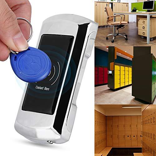 Elektronisches digitales Schließfachschloss, intelligentes Zinklegierungs-Schrankschloss mit Zugangskarte für Sauna/Schwimmen/Hotel/Fitnessraum-Schließfachgarderobe