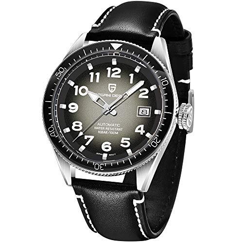 Pagani Design Reloj mecánico a la Moda para Hombre Reloj mecánico Simple Digital analógico para Negocios Reloj mecánico Retro para Hombre Japón NH35A Reloj Deportivo Impermeable 100M para Hombre
